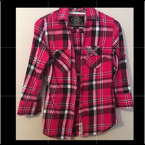 Superdry Plaid (Size S) Flannel Shirt